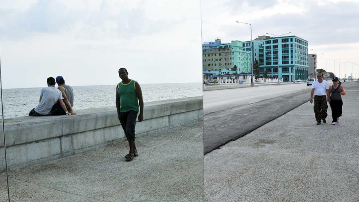 """""""Detrás del Muro"""", un proyecto de 180 artistas cubanos, que exponen en el Malecón."""