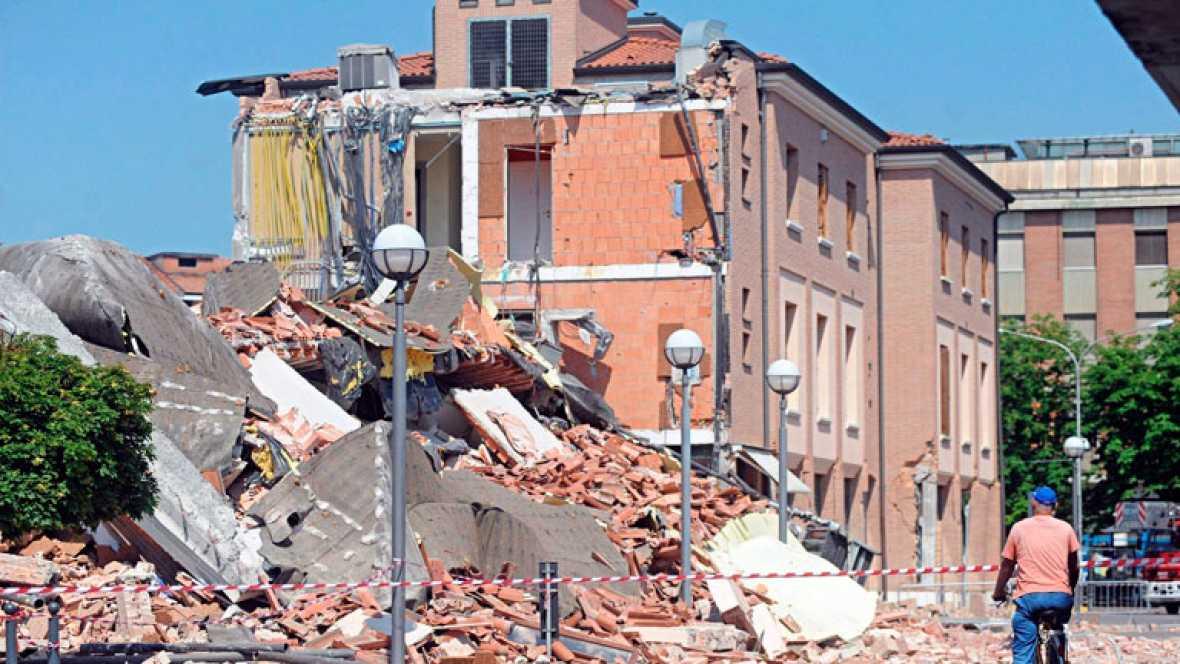 Varias réplicas del terremoto en Mirándola