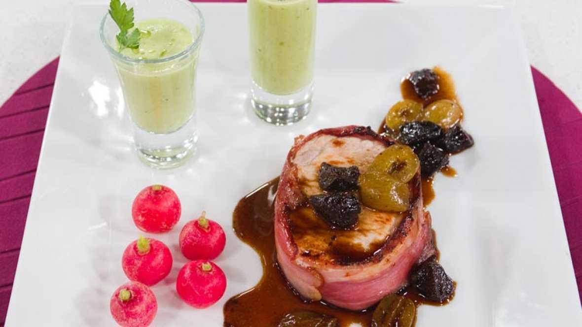 Saber cocinar - Medallones de lomo con gazpacho verde