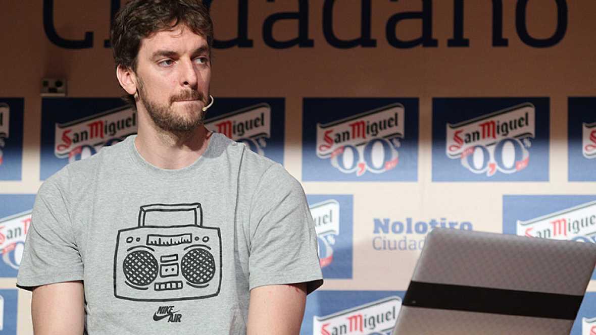 """El jugador español Pau Gasol ha asegurado que está """"con muchas ganas de hacerlo muy bien y ganar"""" con la selección este verano en los Juegos de Londres 2012."""