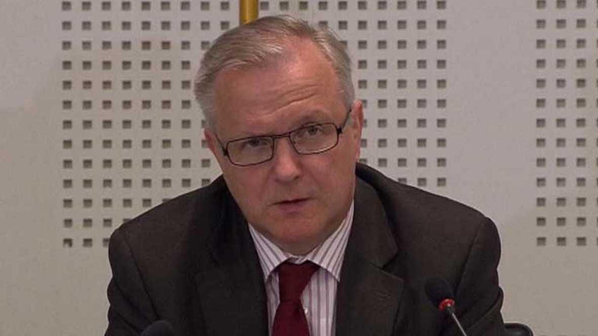 Olli Rehn señala que la ayuda es una muestra que Europa apoya a España