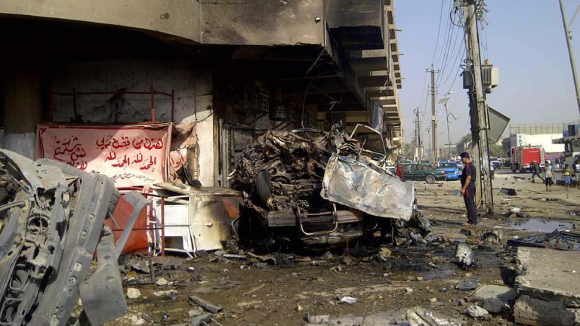 Una cadena de atentados ha matado este miércoles a medio centenar de personas y ha herido a más de 100, la mayoría de ellos peregrinos chiíes, en Bagdad y varias localidades al sur, norte y este de la capital.