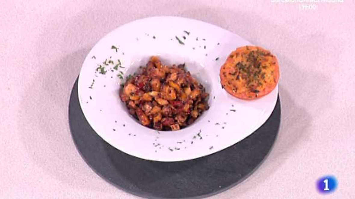 Cocina con Sergio - Salteado de setas y pulpo con tomates asados  - Ver ahora