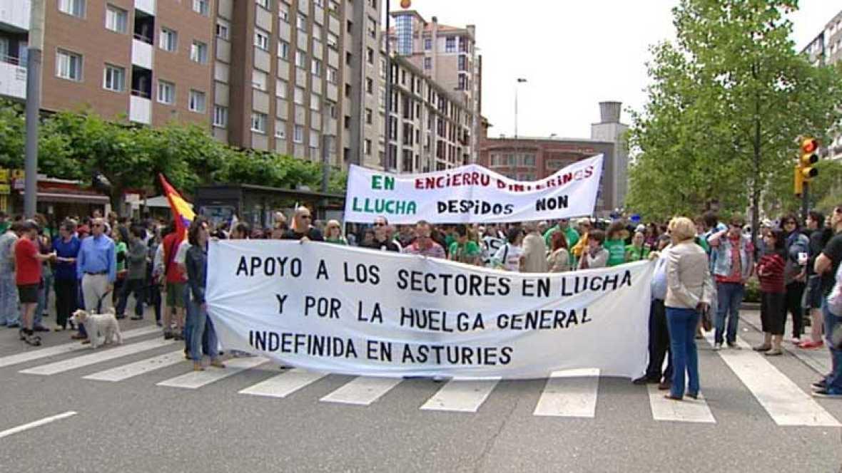 Las marchas mineras en contra de los recortes continúan firmes en sus reivindicaciones