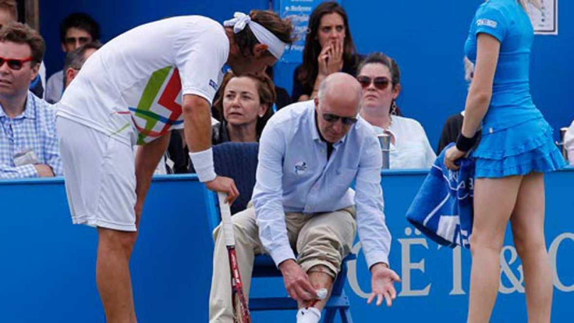 Nalbandian, descalificado en Queen's por golpear la silla del juez de línea