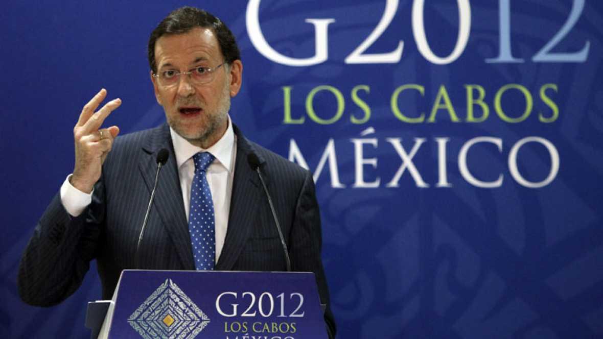 RAJOY DESMIENTE EN LA CUMBRE DEL G-20 PRESIONES PARA ACELERAR EL RESCATE DE LA BANCA