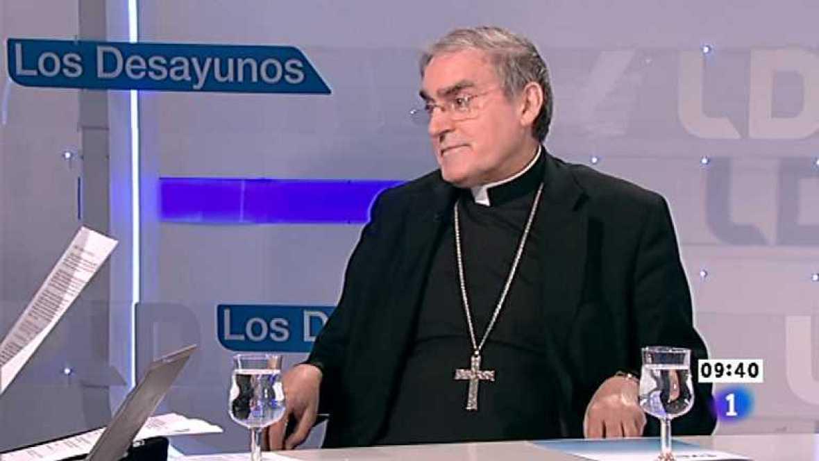 Los desayunos de TVE - Lluis Martínez-Sistach, cardenal arzobispo de Barcelona; Oriol Pujol, presidente de CiU en el Parlament de Catalunya - Ver ahora