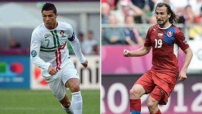 Portugal y República Checa se enfrentan en Varsovia en el estadio nacional, en un césped preocupante. Se trata del primer partido de cuartos de final de la Eurocopa. Portugal es favorita...si funciona Cristiano Ronaldo. Los checos no contarán de sali