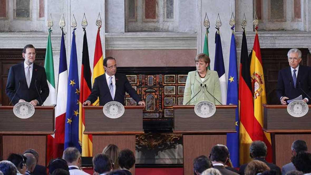 Alemania, Francia, Italia y España acuerdan un plan de crecimiento