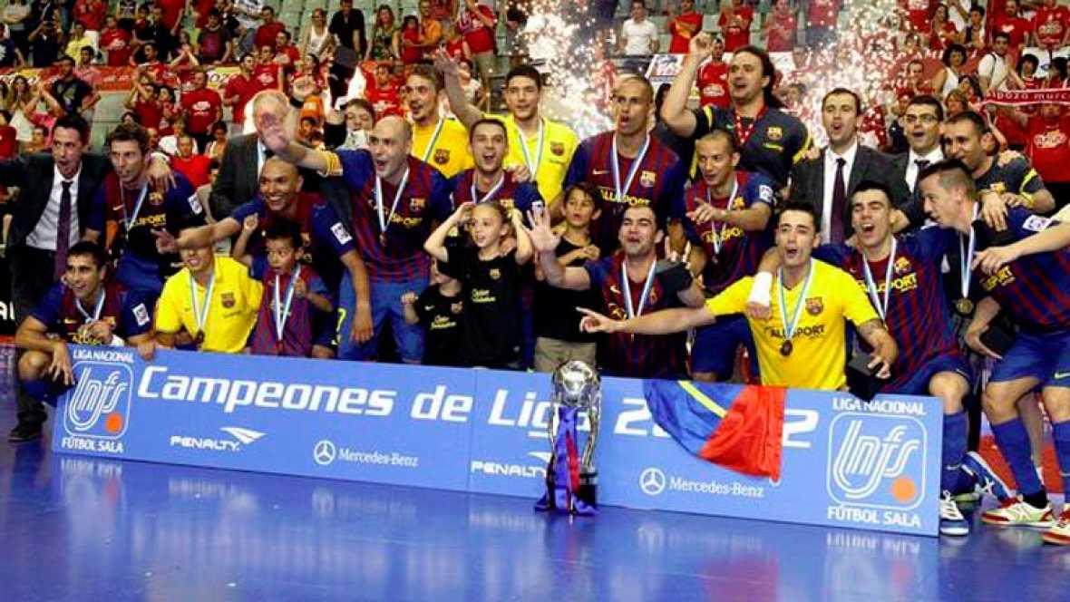 El FC Barcelona Alusport, campeón de la Liga de fútbol sala