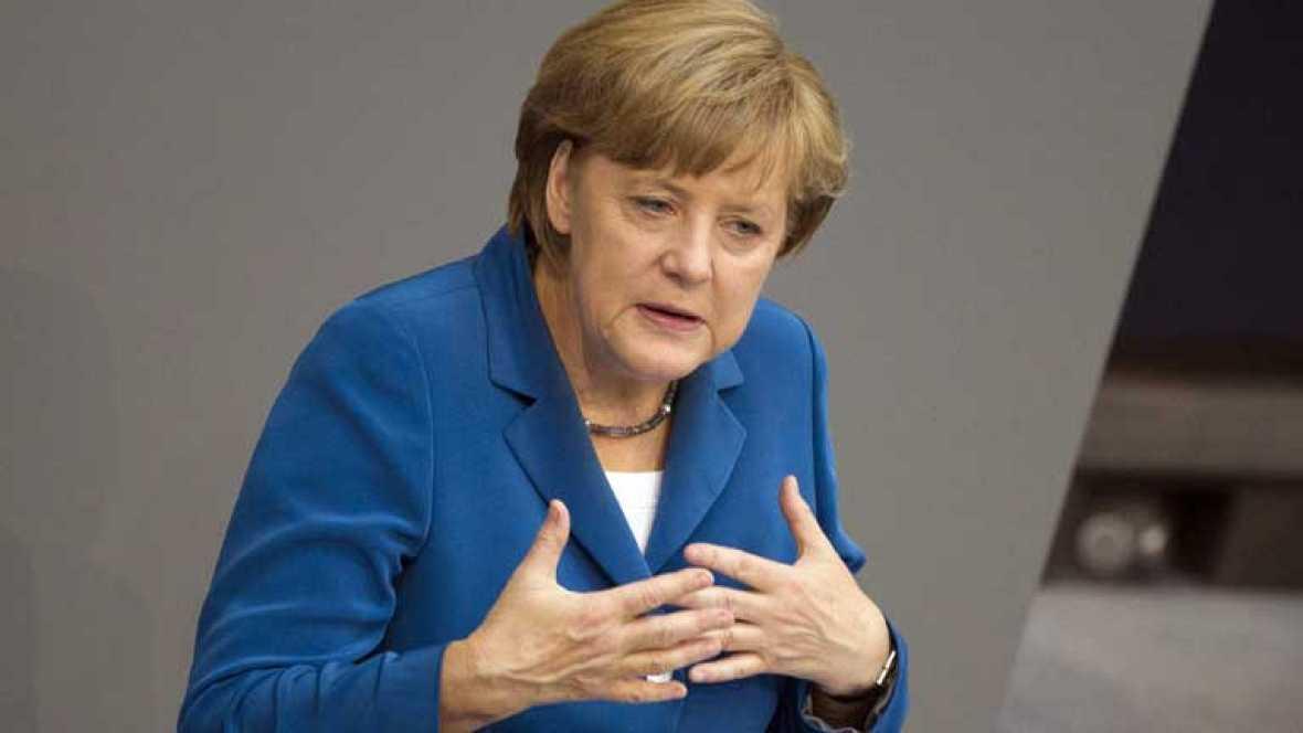 Angela Merkel insiste en que no le parece buena idea colectivizar la deuda