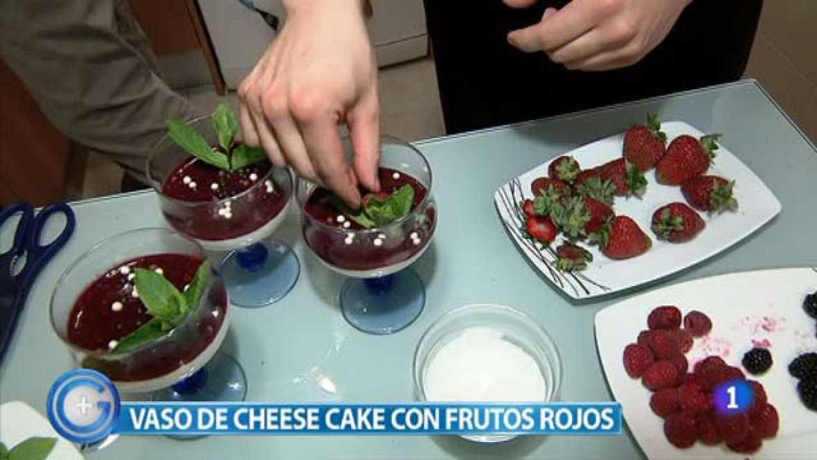 Más Gente - Tarta de queso con frutos rojos