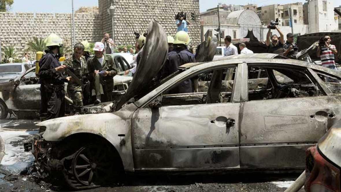 Bombardeo en el centro de damasco