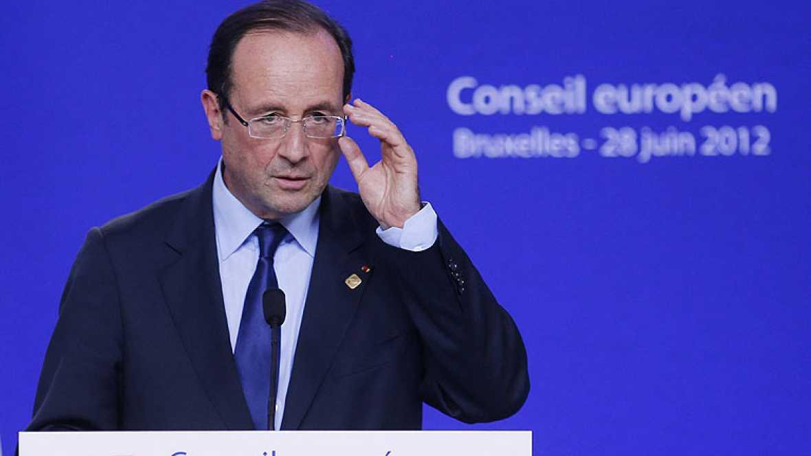 """Hollande respalda a Rajoy y confía en que """"en las próximas horas"""" se acuerden sus peticiones"""