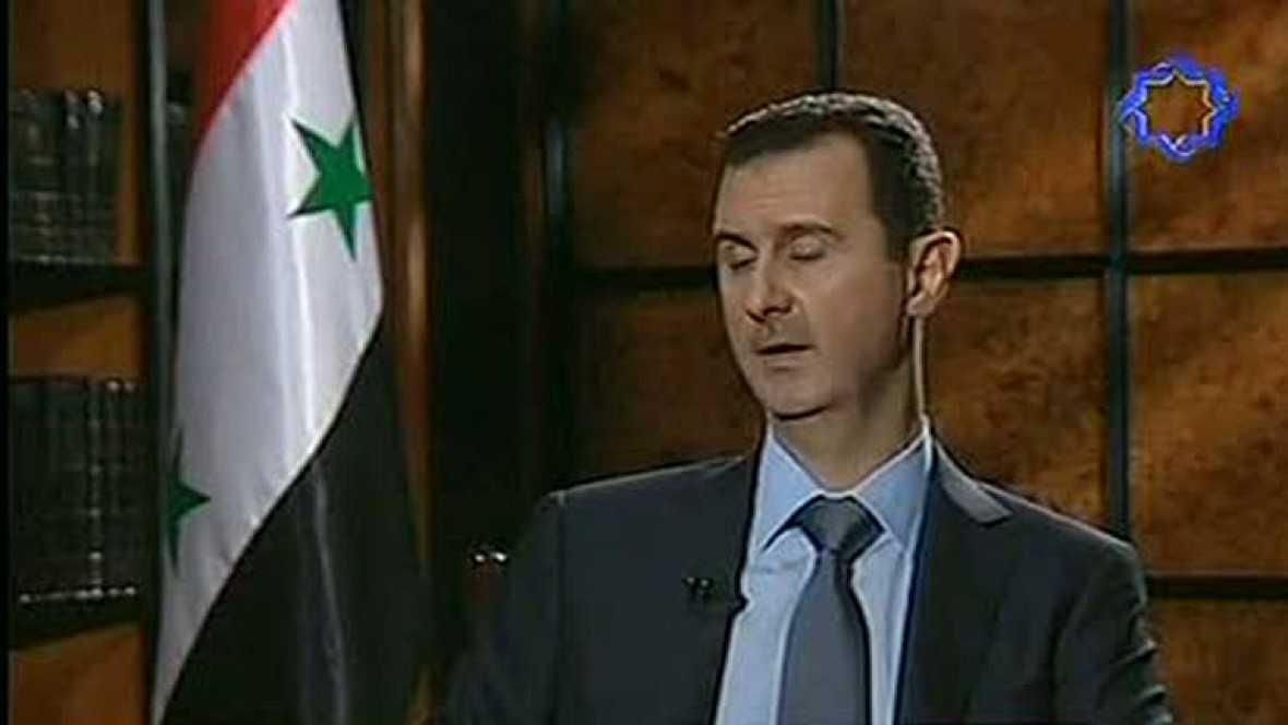 Asad descarta una solución externa al conflicto de Siria