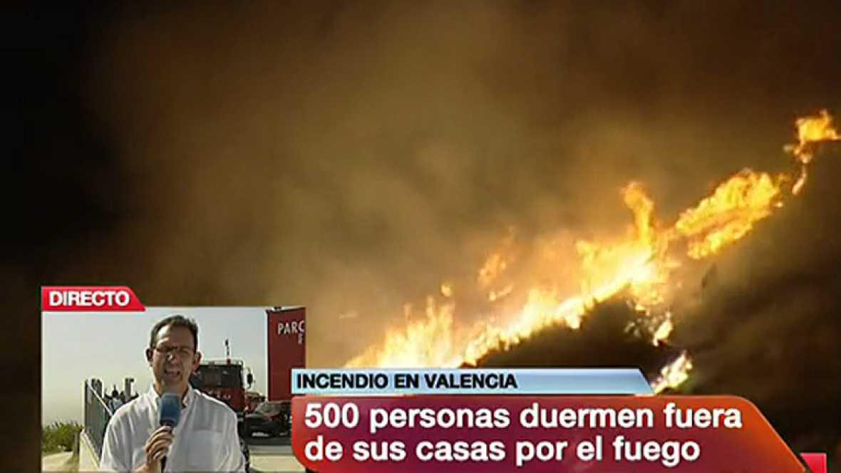 Sigue activo el incendio de Cortes de Pallás