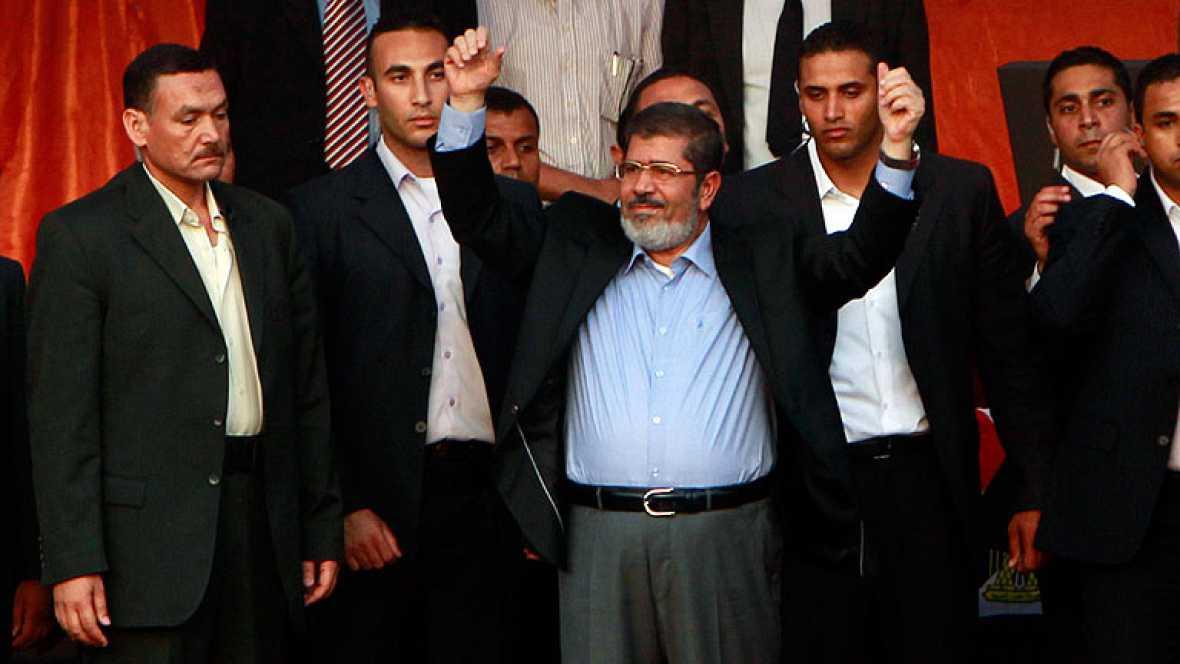 El Nuevo presidente de Egipto, Mohameh Morsi jura su cargo