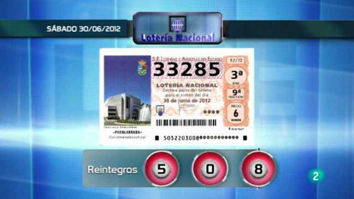 Sorteo viajero de Lotería Nacional - 30/06/12 - ver ahora