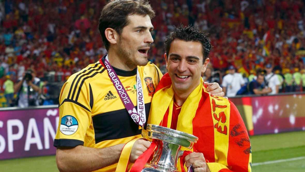 Vicente del Bossque y los jugadores de la selección española han coincidido en que España ha ganado la Eurocopa con autoridad ante un buen rival. La superioridad del encuentro fue la nota predominante de un partido que la 'Roja' ganó por goleada ante