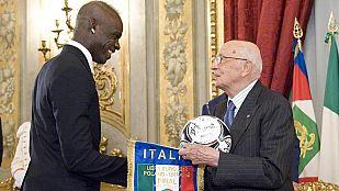 Napolitano recibió a la selección italiana
