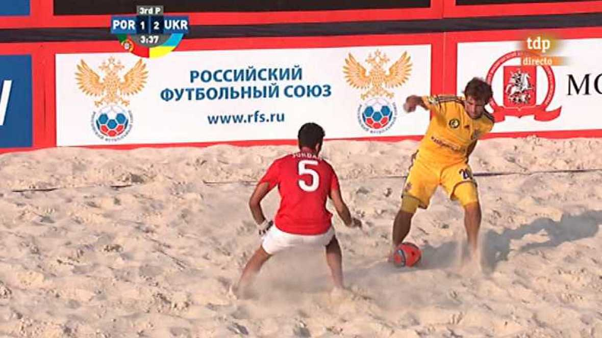 Fútbol playa - Torneo de clasificación de la Copa del Mundo 2013: Portugal - Ucrania - ver ahora