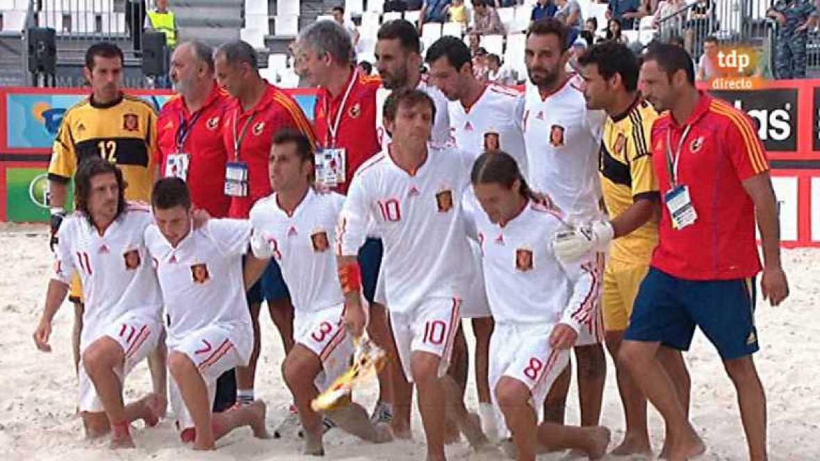 Fútbol playa - Torneo de clasificación de la Copa del Mundo 2013 : España-Italia - Ver ahora