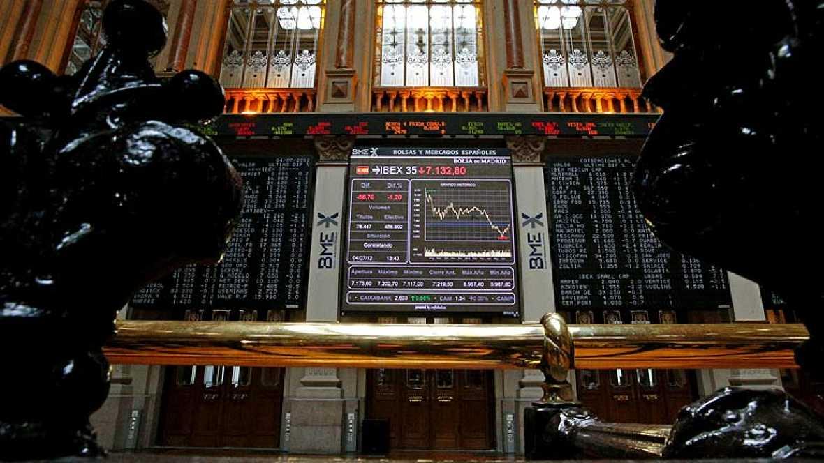 El Ibex-35 cae un 2,99% y la rentabilidad del bono español a 10 años roza el 6,8%