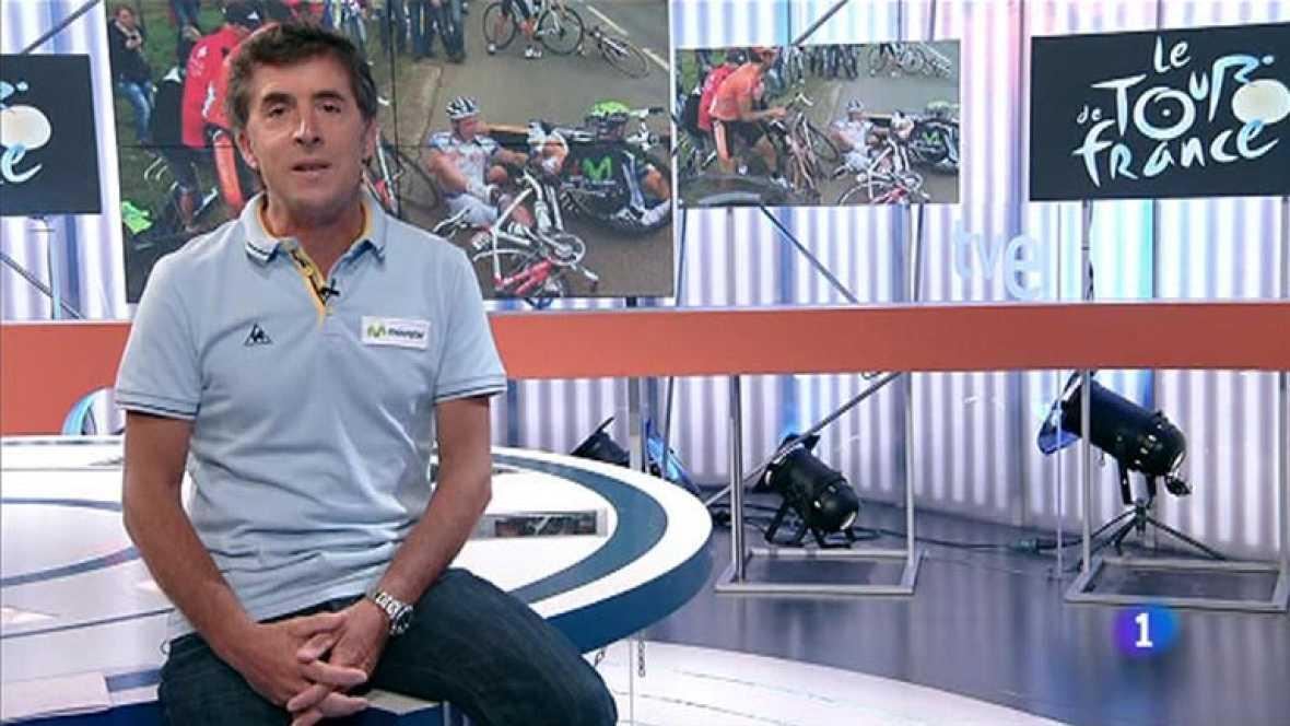 El comentarista de TVE para el Tour de Francia analiza la octava etapa, en la que Samuel Sánchez ha sufrido una caída que le ha apartado de la ronda gala y, casi con seguridad, de los Juegos.