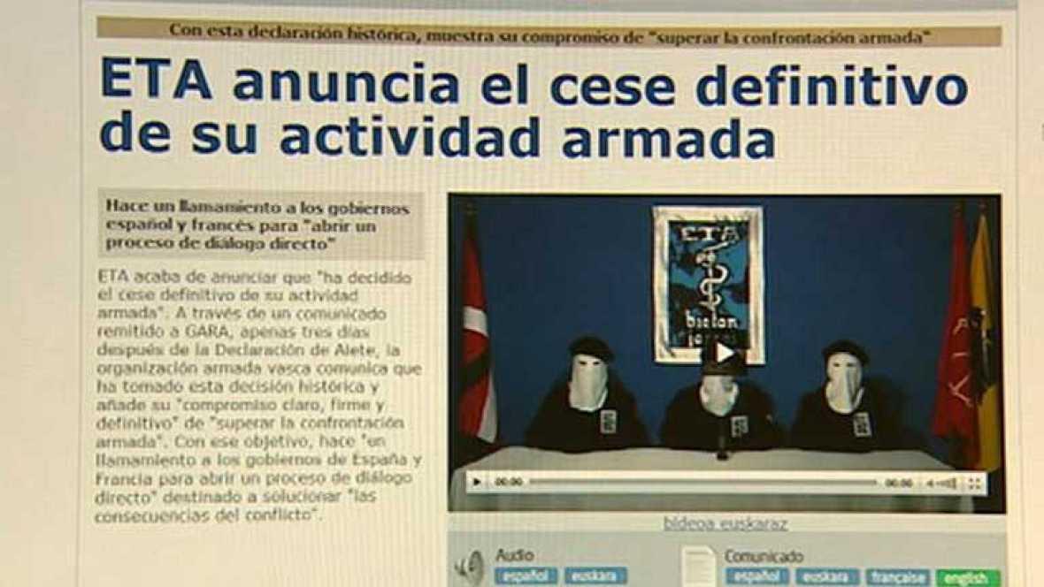 La banda ETA mantiene su decisión de mantener el cese de la actividad terrorista