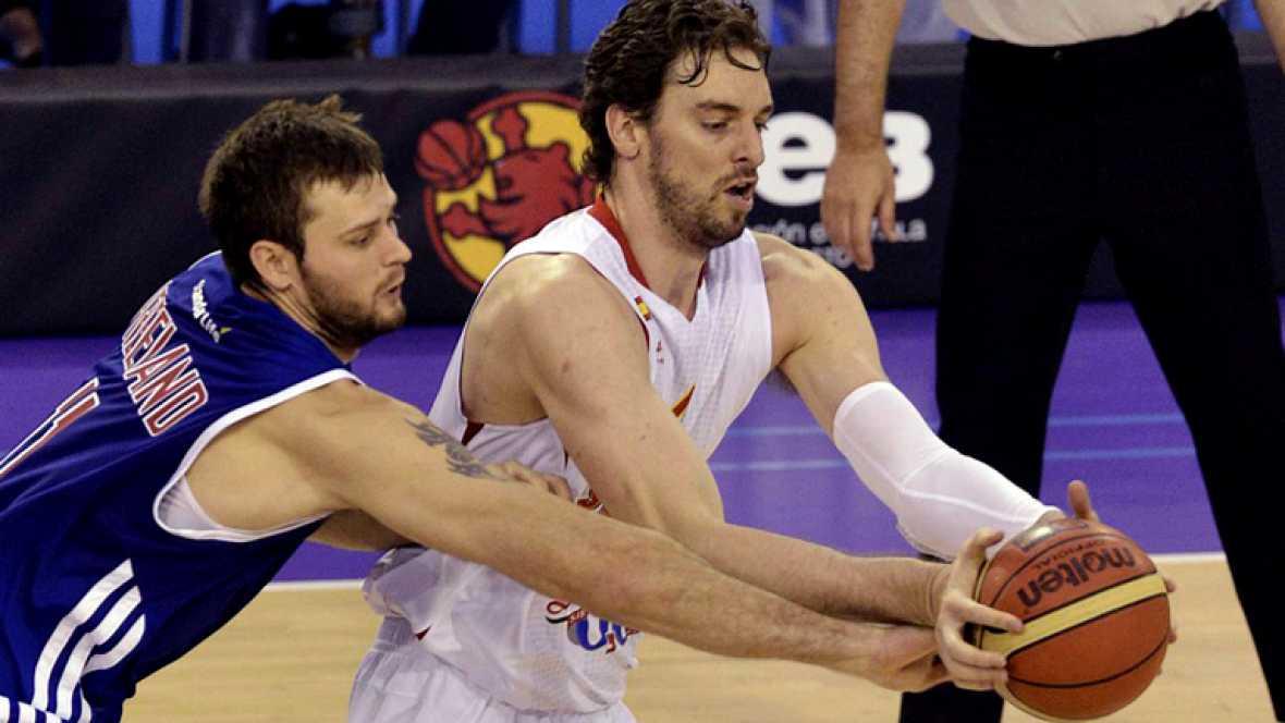 La selección española de baloncesto se ha impuesto de manera modesta a Gran Bretaña