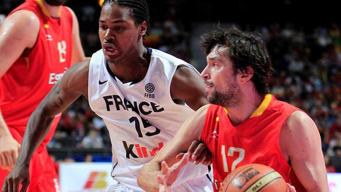 La selección española de baloncesto da un serio repaso a Francia (81-65)