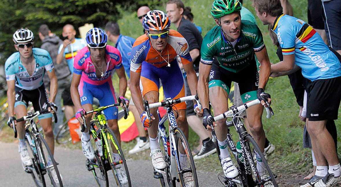 """El ciclista español de Rabobank Luis León Sánchez admitió haber cometido un """"error de cálculo"""" en el final de la décima etapa del Tour 2012, que finalmente se adjudicó el francés Voeckler."""