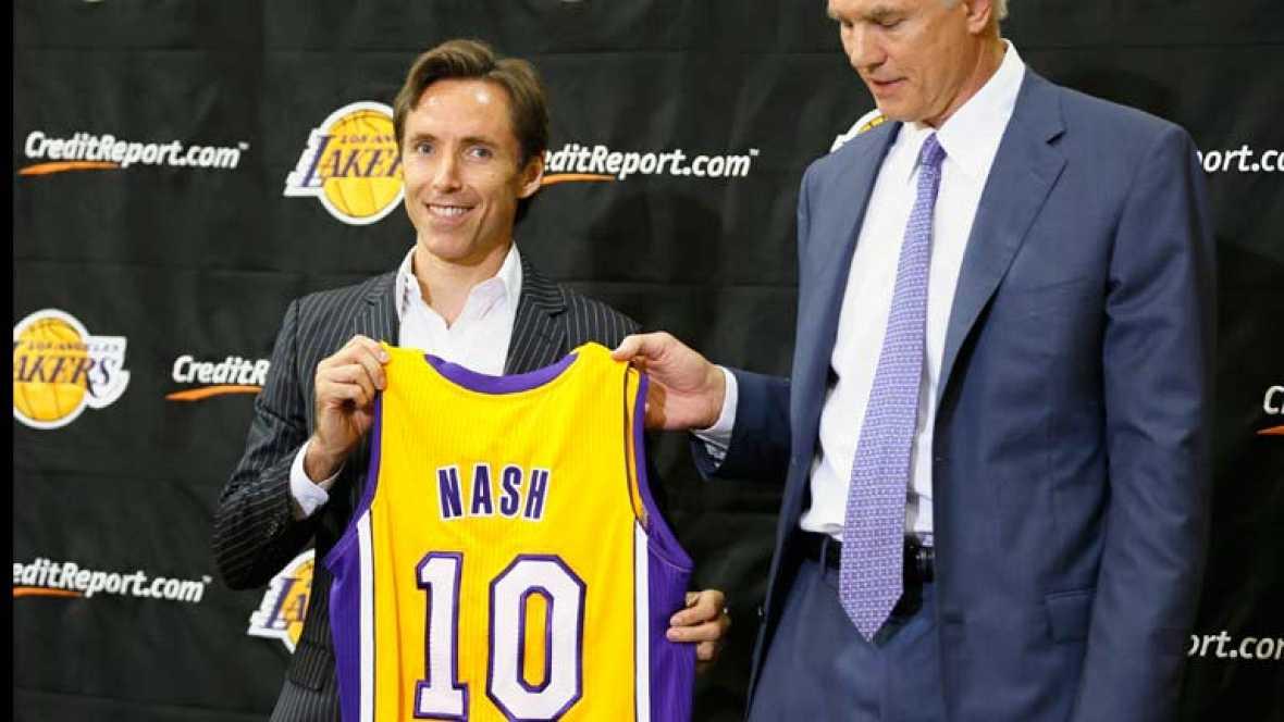 El nuevo fichaje de los Lakers, el base Steve Nash, llevará el número 10 en su camiseta en honor a Messi. Ha dejado su número de siempre, el 13, y ha cogido el del futbolista argentino al que admira.
