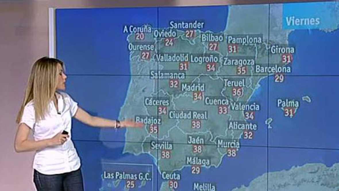 Temperaturas altas en el Sistema Ibérico y sureste peninsular
