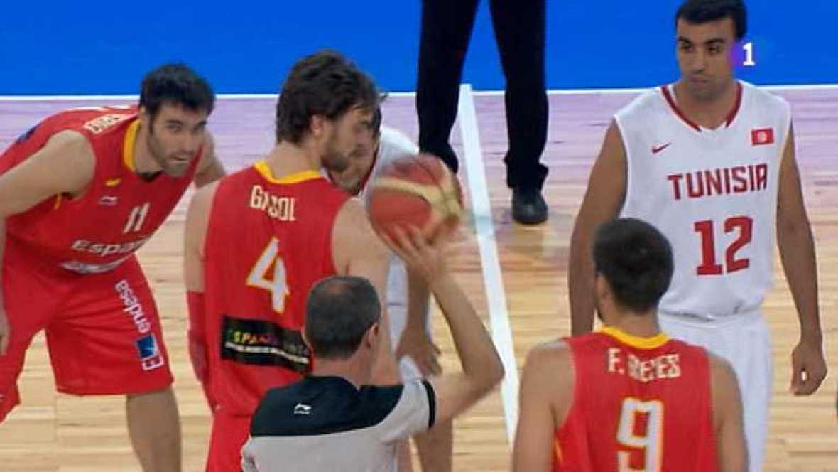 Baloncesto - Gira Preolímpica de la Selección española: España - Túnez -Ver ahora