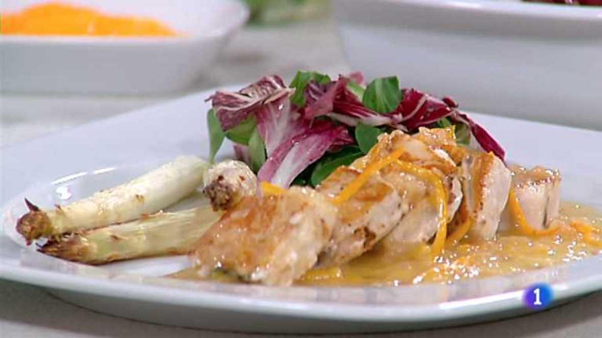 Cocina con sergio dados de emperador con esp rragos al - Cocina con sergio pepa ...