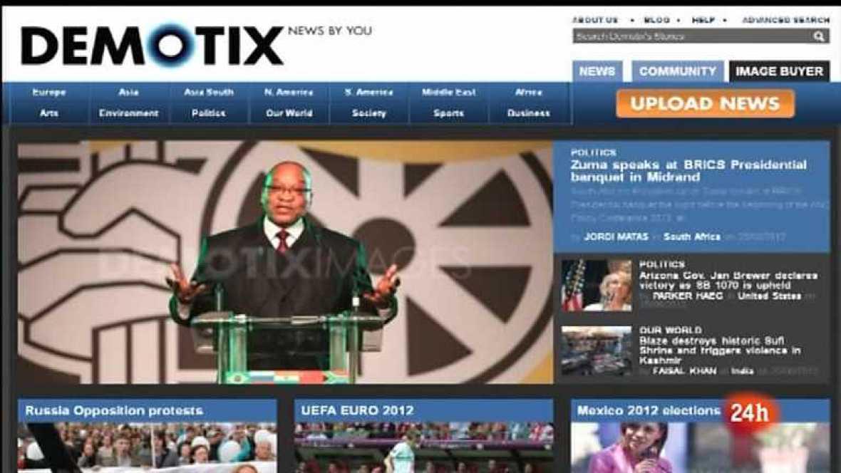 Cámara abierta 2.0 - La agencia Demotix, el blog Ahorrar en crisis y Macaco en 1minuto.com - 14/07/12 - Ver ahora