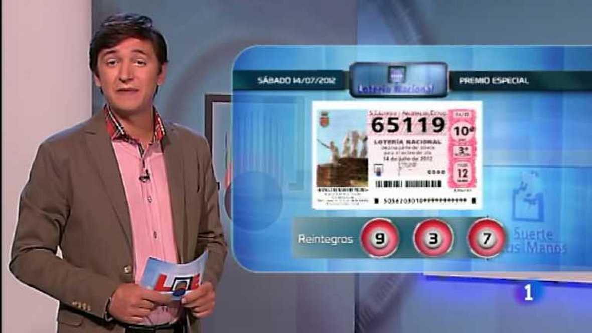 Retransmisión del sorteo de la Lotería Nacional.