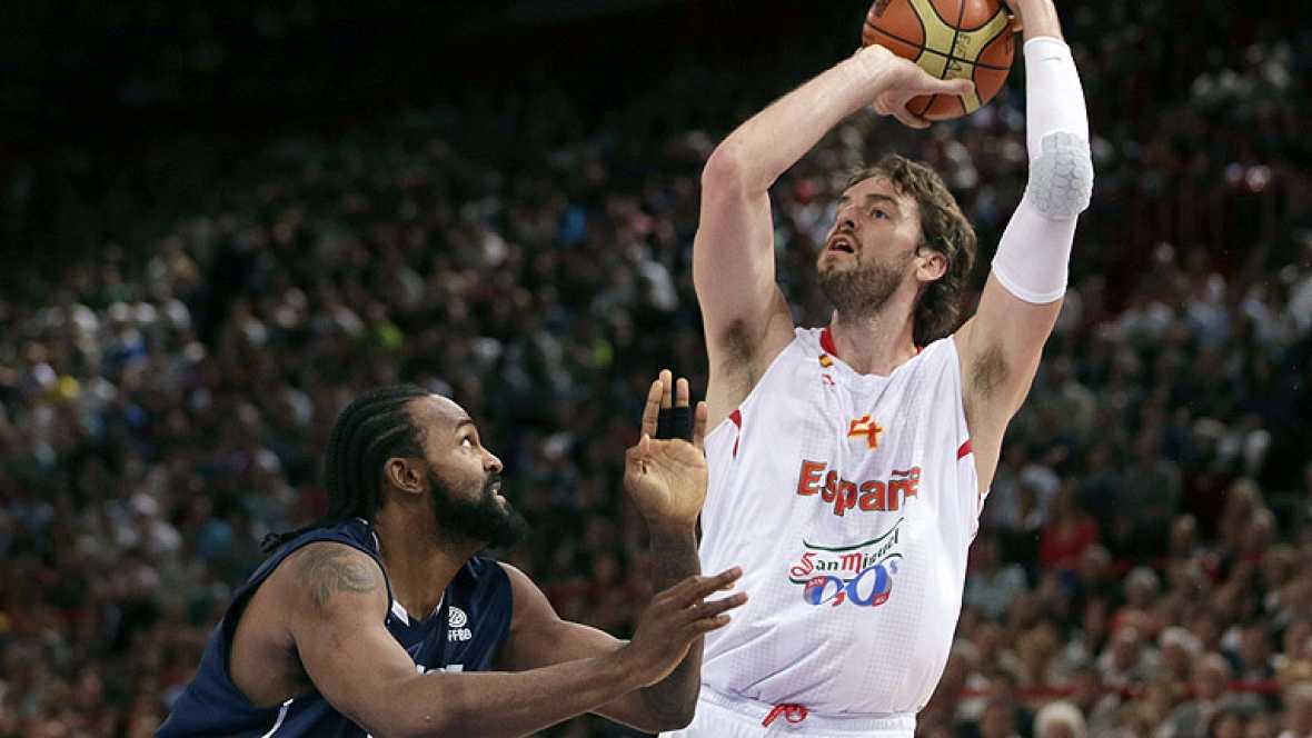 La selección española de baloncesto ha sumado una nueva victoria en su preparación para los Juegos Olímpicos de Londres 2012 al derrotar a Francia por 70-75.