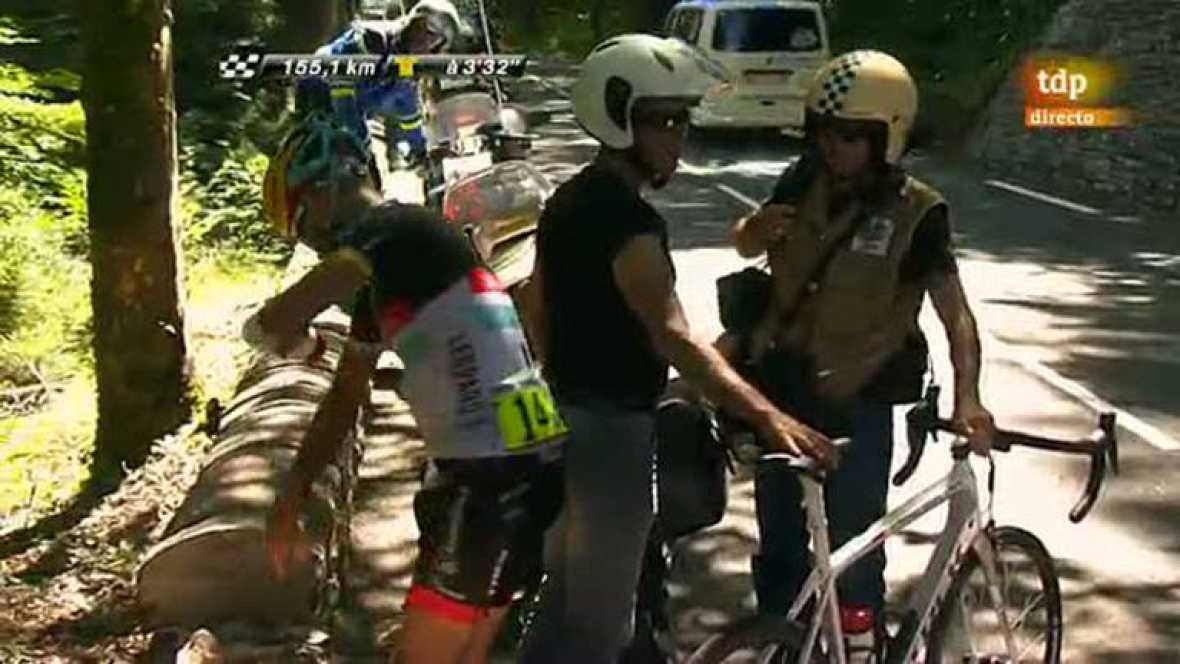 Chris Horner se cae por un barranco