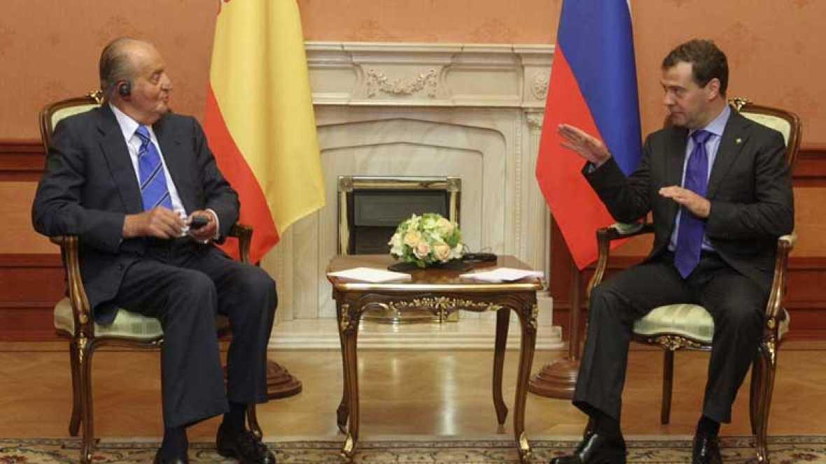 El rey pide unidad europea a Vladimir Putin para solucionar el conflicto de Siria