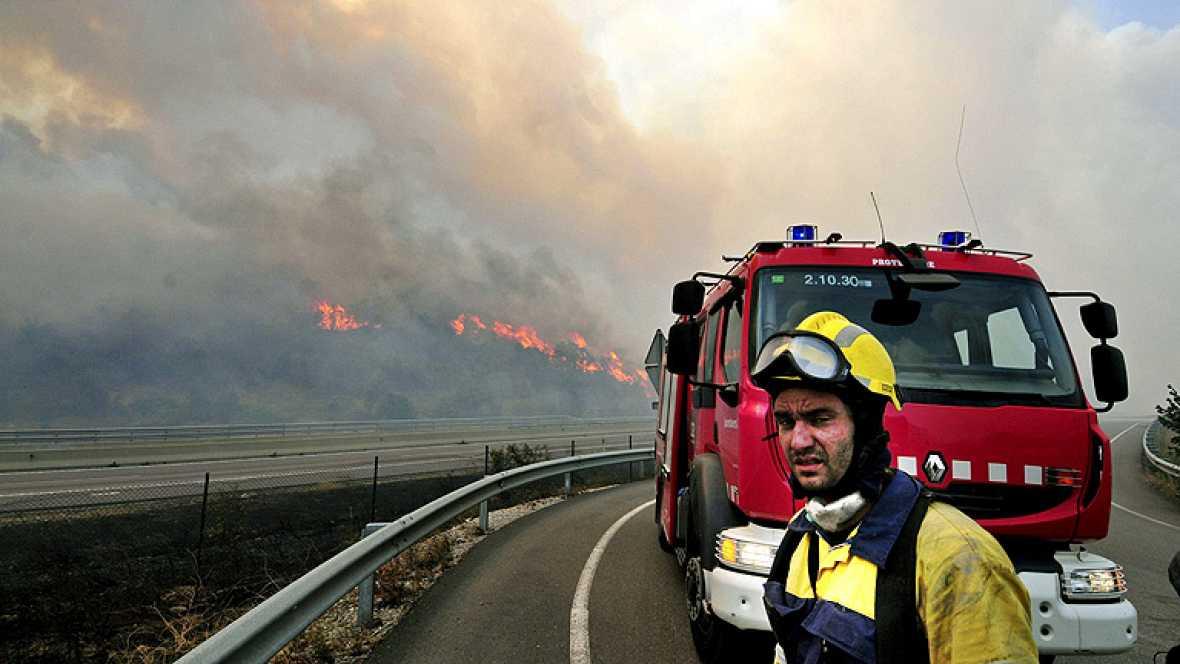 Un incendio en el Empordà quema mil hectáreas