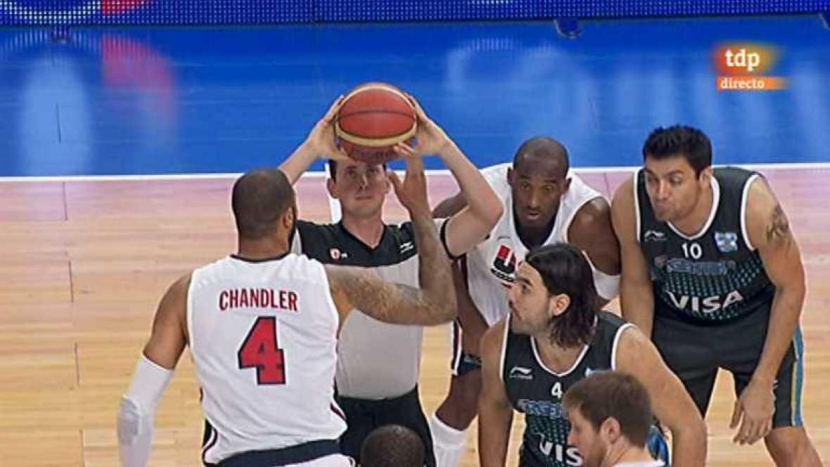 Baloncesto - Gira Preolímpica de la Selección española: EEUU - Argentina - ver ahora