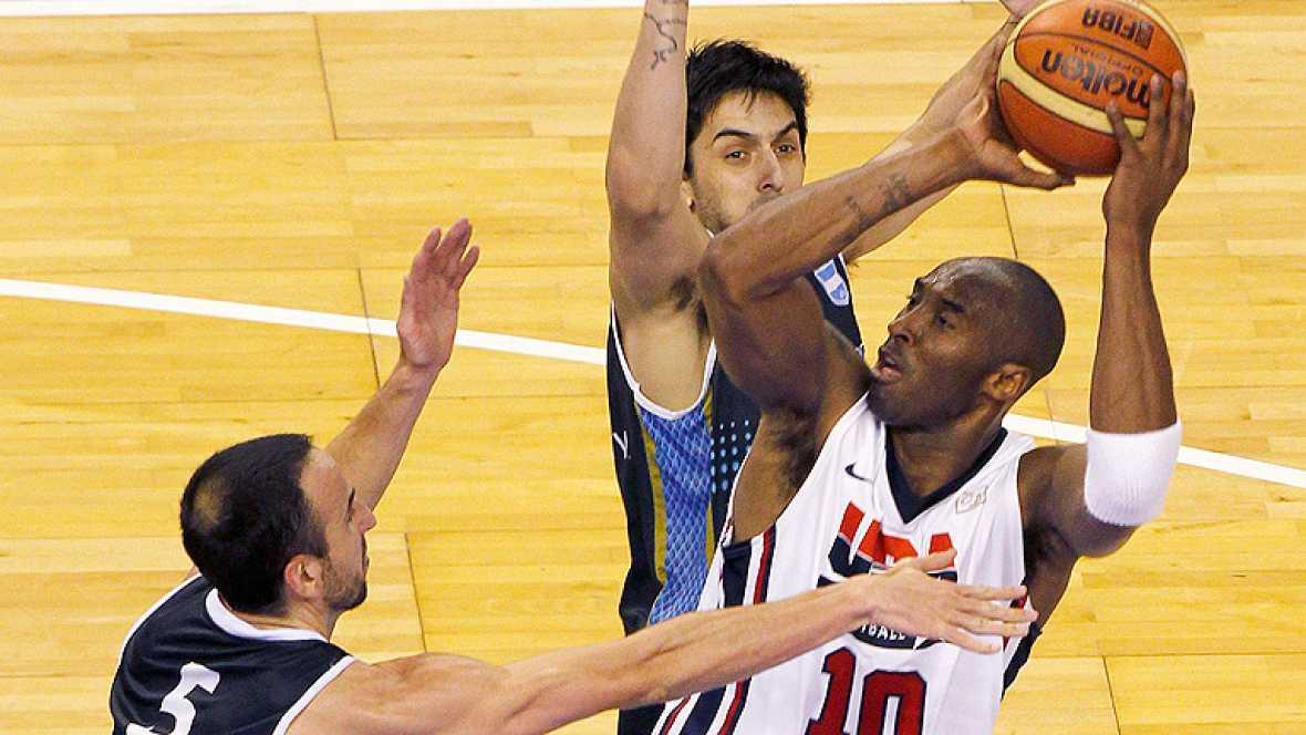 La selección estadounidense de baloncesto suma y sigue en su preparación para Londres 2012 al derrotar a Argentina en Barcelona, a pesar del esfuerzo mostrado por el combinado latinoamericano.