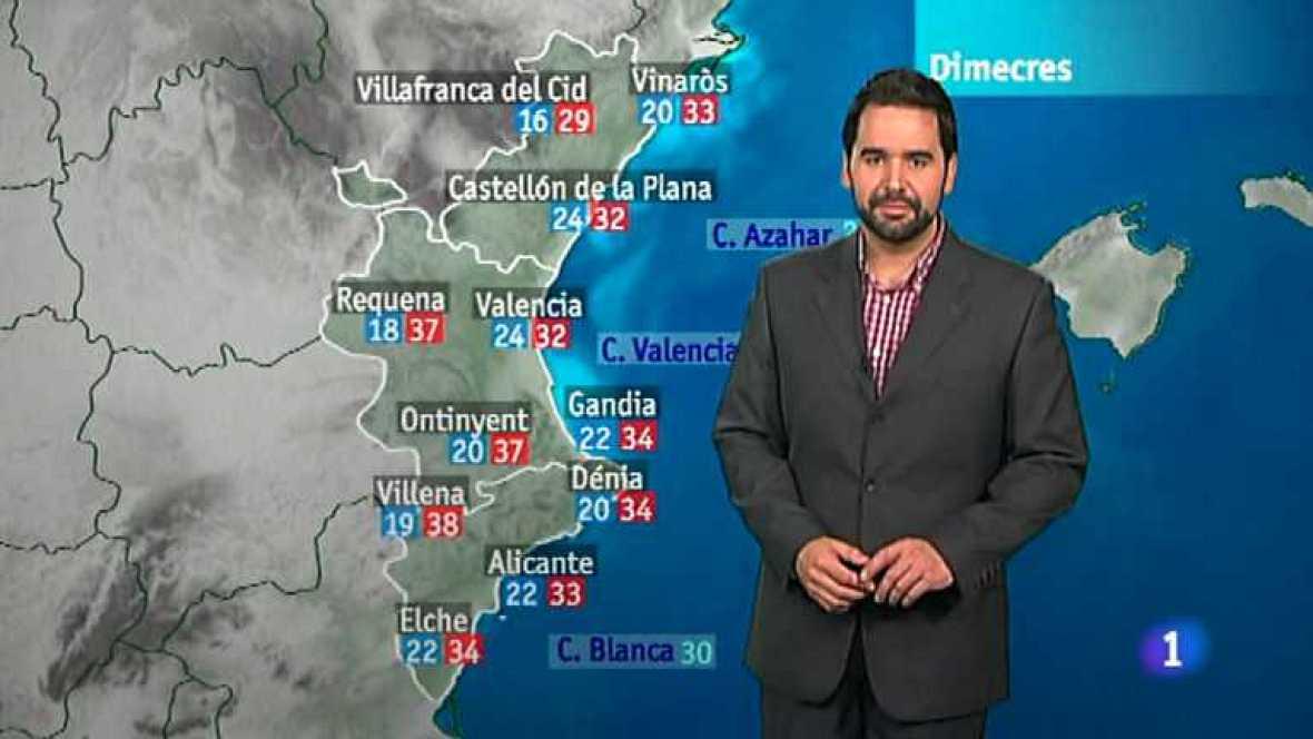 El tiempo en la Comunidad Valenciana - 31/07/12 - Ver ahora