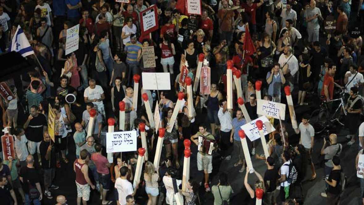 Los indignados de Israel toman las calles de nuevo pero fragmentados