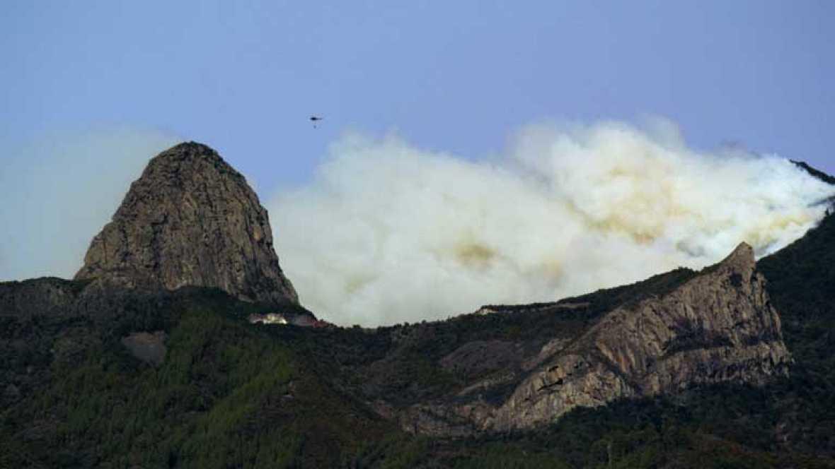 Se quema el 9% del Parque de Garajonay