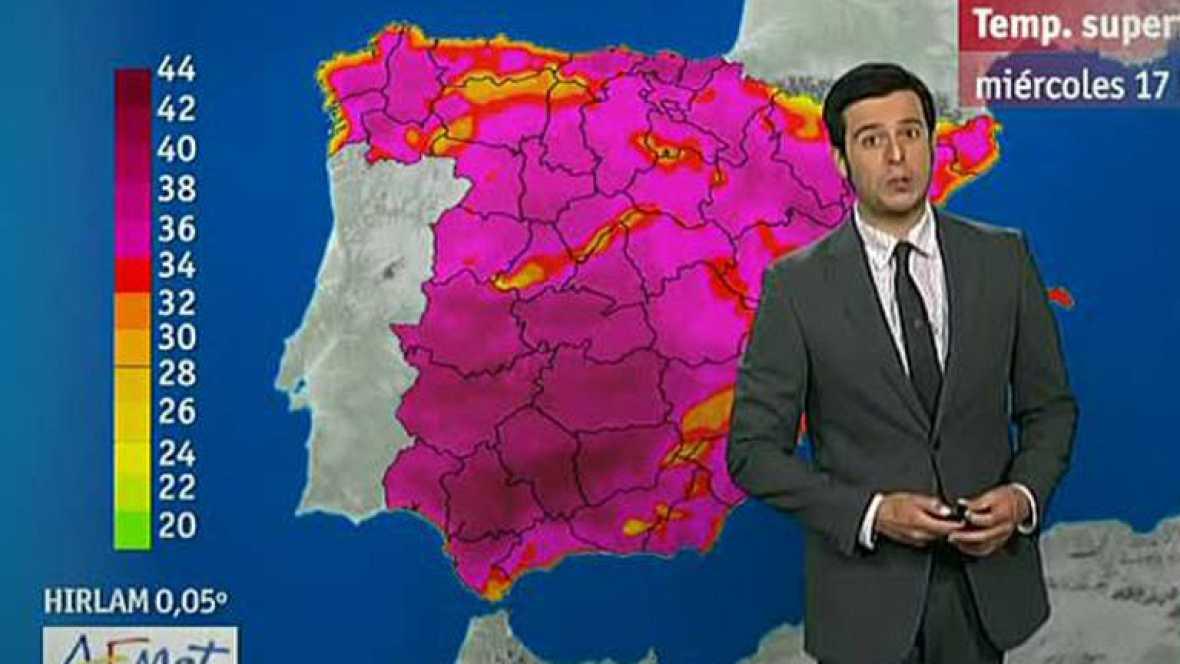 Altas temperaturas en toda España y tormentas en la Ibérica, la Bética y el norte