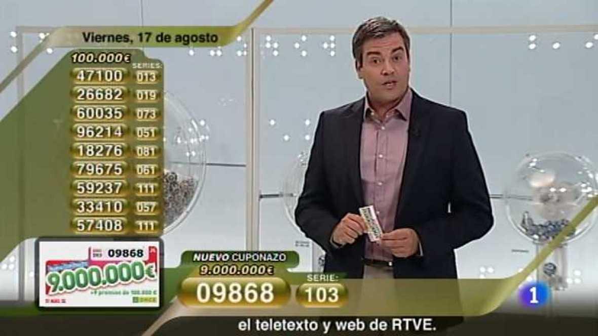 Sorteo ONCE - 17/08/12 - Ver ahora
