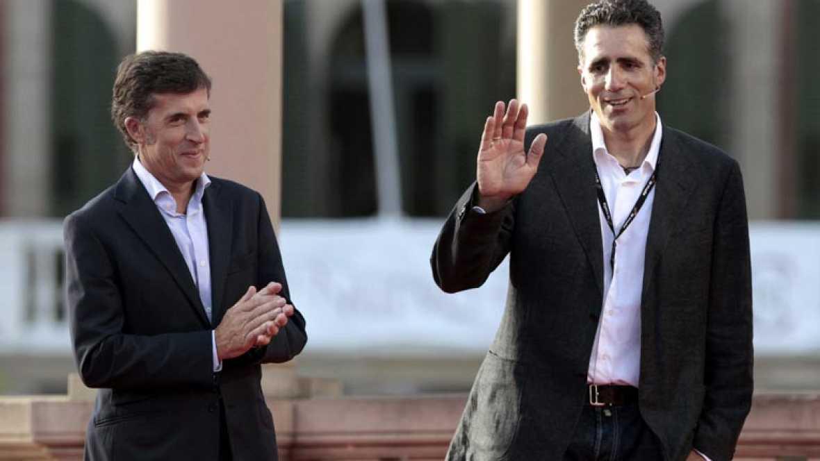 Desde Pamplona, gala de presentación de la Vuelta Ciclista a España 2012.